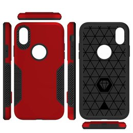 Chinese  Hybrid Armor TPU PC Hard Case For Iphone X 8 7 PLUS Huawei P8 P9 LITE 2017 ZTE Z MAX PRO 2 Z982 Carbon Fiber Shockproof GEL Skin Cover 10pcs manufacturers