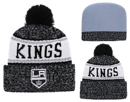 5b20df0ab Discount LA Kings Beanie hat Sideline Cold Weather Graphite Official Revers  Sport Knit Hat All Teams winter Knitted Wool Skull Cap
