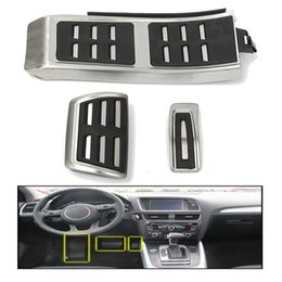 Brake Foot Rest Pedals Australia - Autoleader 3Pcs Stainless Steel Car Styling Non Slip Sport Foot Rest Fuel Brake Pedal Plate Cover For AUDI A4 S4 A5 A6 Q5 S5 A7