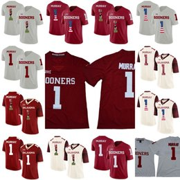 College Football Flags Australia - Men Women Youth Oklahoma Sooners 1 Kyler Murray NCAA Football Jerseys College Double Stiched High Quanlity Shirt American Flag Numbers