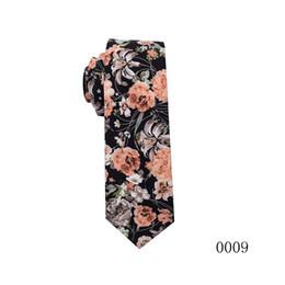 Flowers men wear weddings online shopping - 2019 Fashion style Flowers Pattern wedding ties Men printing Tie Social Wedding Party Formal Tie groom wear Accessories