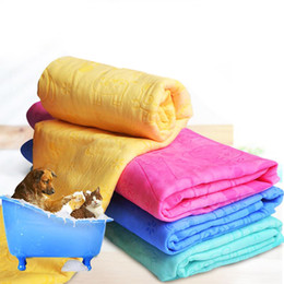 Cartoon Towel Dog Australia - Cartoon Dog Pet Cat Absorbent Microfiber Bath Towel Bathrobe Quick Dry Suede Material Dog Hair Dry Towel For Dogs