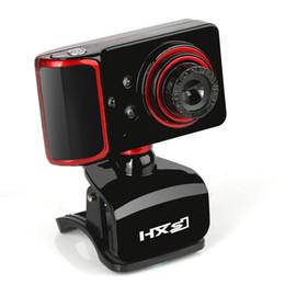 Vente en gros HXSJ marque 16M Pixel en faisant pivoter la caméra Web HD ajustée Clip-on 3 LED Webcam caméra USB avec la micro Webcamera pour Android TV Computer