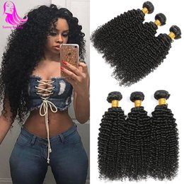 16 inch malaysian hair curly Australia - Malaysian Afro Kinkys Curly Hair 4 Bundles Malaisienne Malaysian Human Hair Weave Weft for Black Women Mongolian Tight Kinky Curly