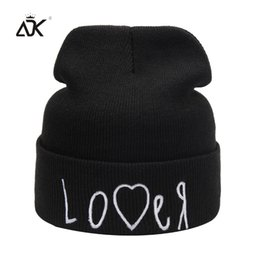 Discount skulls accessories - ADK Black Unisex Simple Style Hat For Men Women Embroidery Brand New Fashion Accessory Soft Winter Beanie#CAP247