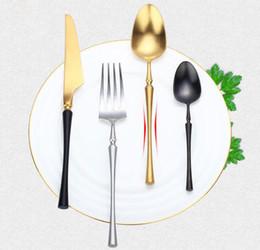 Cutlery Wedding Gifts Australia - Stainless Steel Cutlery Set Luxury Plated Dinnerware Steak knife and fork sets Dinnerware Christmas Dinnerware Wedding Gifts