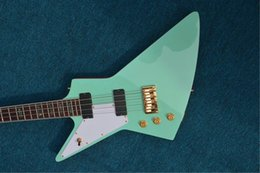 electric guitars custom green 2019 - Free Shipping left hand blue color bass guitar china custom shop made electric bass 22 fret rose wood fingerboard cool g