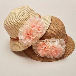 Korean Baby Flowers Canada - 2018 Brand New Summer and Spring Hot Sale Girl Baby Shade Princess Hat Korean Flower Fashion Sunhat