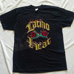 Опт Vintage Latino Heat WWF Эдди Герреро перепечатка рубашка S-XXL Марка рубашки джинсы печати классическое качество высокая футболка