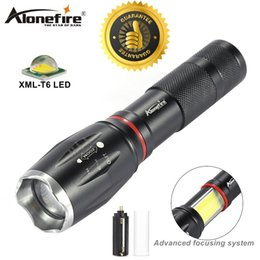 Cree Xm L T6 Battery Australia - AloneFire G701 NEW flashlight 5000lm CREE XM-L T6 led Aluminum waterproof Tactical Zoomable Torch COB Magnet lantern Light 18650 battery