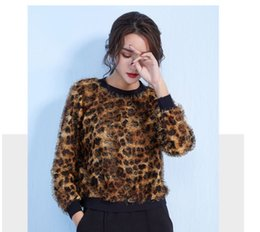 $enCountryForm.capitalKeyWord Australia - Autumn Winter Women Sweaters And Pullovers Brown Leopard Printed Long Sleeve Casual Crop Sweater Knitted Jumpers Sweter Mujer
