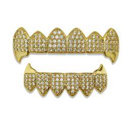 $enCountryForm.capitalKeyWord NZ - Hiphop Gold Teeth Grills Rhinestone Top&Bottom Grills Set Shiny Tooth Grills Dental Teeth Caps Party Jewelry Gift