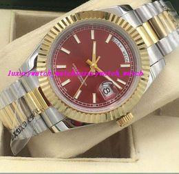 Brand Luxury Style Watch Australia - Luxury Watches 5 Style Two Tone Fluted Bezel 41mm Automatic Fashion Brand Men's Watch Wristwatch