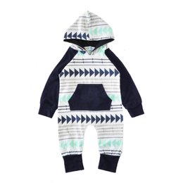 Boy BaBy clothes Bodysuit online shopping - New infant newborn baby boy girls infant long sleeve hooded Xmas gift romper jumpsuit bodysuit clothes outfits