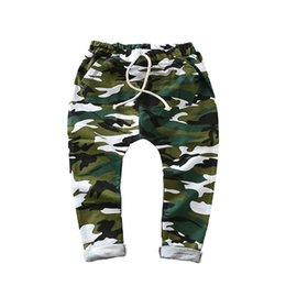 Camouflage pants for boys online shopping - SQBCMW hot sale size100 children harem pants for boys camo army trousers kids child casual pants camouflage green blue