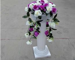 $enCountryForm.capitalKeyWord Australia - European Style Roman Columns White Color Plastic Pillars Road Cited Wedding Props Event Decoration Supplies 2pcs lot