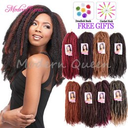 Discount hair 33 - 18inch Marley Braids Hair Crochet Braid Ombre Afro Kinky Curly Twist Kanekalon Synthetic Braiding Hair Crochet Braids Ha