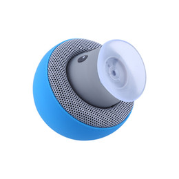 Mushroom Waterproof Speaker UK - Portable Wireless Speaker Mushroom Waterproof Stereo Bluetooth Speaker Support Handsfree For iPhone With Suction Cup Function