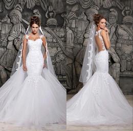 2020 vestidos de noiva de renda berta sexy ilusão de volta com trem destacável marfim tule sereia primavera berta vestidos de noiva custom made em Promoção