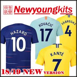 uniform army 2019 - 2018 19 HAZARD soccer Jersey 18 19 away yellow third blue football uniforms Giroud Fabregas KANTE BARKLEY RUDIGER WILLIA