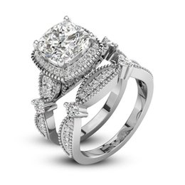 Discount Double Band Wedding Ring Set | Double Band Wedding Ring Set ...