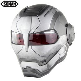 $enCountryForm.capitalKeyWord UK - Racing Motorcycle Ironman Helmet Motocross Flip Up Robot Style Casco Moto Full Face Capacete Soman 515