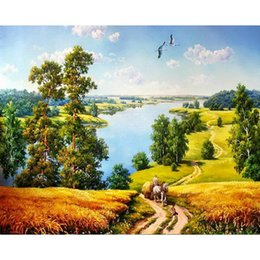 Diy Painted Picture Frames Australia - Framed Plain Trail DIY Painting By Numbers Drawing By Painting Kits Painting Hand Painted On Canvas For Home Wall Art Picture For Room
