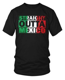 nwa t shirt UK - Konatees Straight Outta Mexico Distressed Mexican Flag Country Wholesale Discount Nwa T-shirt