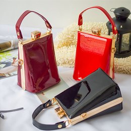 painted christmas canvas UK - BA008 Paint Leather Party Women's Lady Fashion Handbags Design Shoulder Evening Bags Small Pouch Clutch Purse Shell Tbpbc