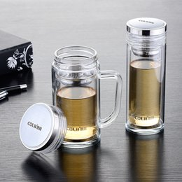 Logo Promotional Gift Australia - Wholesale-Manufacturers selling promotional gifts double glass can print logo daily cup