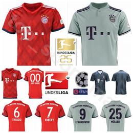 ac3c59a9e 18 19 Bayern Munich Soccer 1 NEUER Jersey Men 25th Bundesliga 6 THIAGO 7  RIBERY 8 MARTINEZ 17 BOATENG Football Shirt Kits Uniform