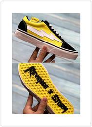 Venta al por mayor de 2018 venta caliente Revenge X Storm Old Skool Canvas Designer Sneakers Mujeres Hombres Low Cut Skateboard Amarillo Rojo Azul Blanco Negro Zapatos casuales