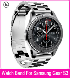 Gear Design NZ - HOCO Stainless Steel Replacement Band Bracelet Strap with Three Beads Buckle Design For Samsung Gear S3 Classic   Frontier