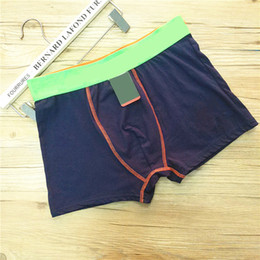 Wholesale Fashion Boys Underwear Briefs Men Underwear Underpants Sports Cotton Mens Boxers Casual Short Pants Solid Color Underwears