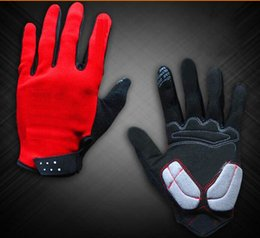 2 Colors Cycling Gloves Mesh SBR Lycra Material Cycling Portective Gear Gloves Size full finger Gloves size M L XL