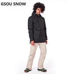 b5347bdcc9 Winter Ski Clothing Brands Australia - GSOU SNOW Brand Ski Suit Men Skiing  Jacket Snowboarding Pants