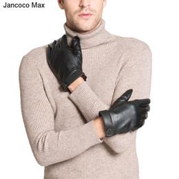 $enCountryForm.capitalKeyWord Australia - Jancoco Max 2018 Warm Sheepskin Gloves High Quality Genuine Leather Touch Screen Outdoor Sport & Driving Mittens S2021