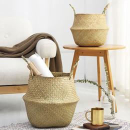 $enCountryForm.capitalKeyWord Australia - Plant Fiber Rattan Plant Flower Pots 2pcs  Set Floor Nursery Pots Bonsai Basket Organizer Home Balcony Decor Garden Supplies