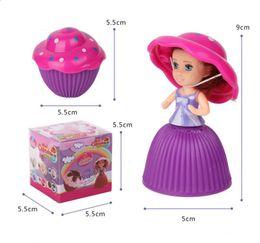 Princess Cake Figures NZ - 5.5cm Cupcake Scented Princess Doll Reversible Cake Transform to Mini Princess Doll 6 Flavors With Retail Box