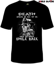 Death Smiles At Us All Camiseta Hombre Algodón Unisex Reaper Adulto Skeleton Nuevo en venta