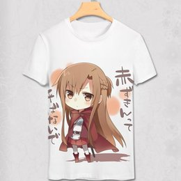 Chinese  New Novelty Fashion Anime Sword Art Online T Shirt Yuki Asuna TShirt 3D Print Sexy Fun T-shirt cosplay costume Men&Women Shirt manufacturers