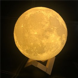 Usb Decorations NZ - 3D LED Night Magical Moon LED Light Moonlight Desk Lamp USB Rechargeable 3D Light Colors Stepless for Home Decoration Christmas lights wn305