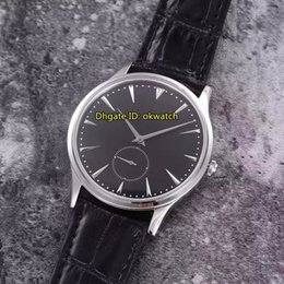 $enCountryForm.capitalKeyWord Australia - New Best Quality Watch Master Grand Ultra Thin 40mm Automatic Mens Watch Q1358470 Steel Black Dial Leather Strap Gents Watches