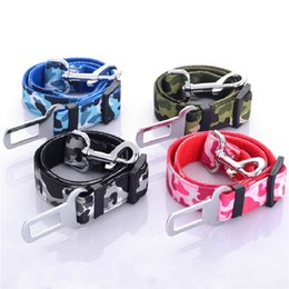 Vehicle Safety Australia - Camouflage Strong pet Dog Car Belt dog Vehicle safety belts Travel Seat Belt Clip Leash Restraint Harness Auto Traction Leads