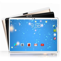 """Pc Ram Cards Australia - 10 inch Tablet PC Octa Core 4G RAM 64GB ROM Dual SIM Cards Android 7.0 GPS 3G 4G LTE 10.1"""" IPS 1280*800 Tempered 2.5D Glass"""