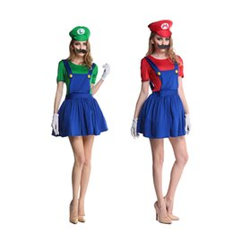 Discount super mario clothing - Halloween Cosplay Super Mario Luigi Bros Costume For Kids And Adults Funny Party Wear Cute Plumber Mario Set Children Cl