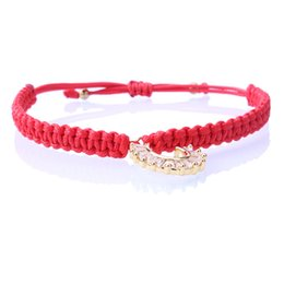 Sale Crystal Charm Lucky Red Bracelets For Women Thin Thread String Rope Fashion Trendy Bracelet Bangles Jewelry Dropshipping Superior In Quality