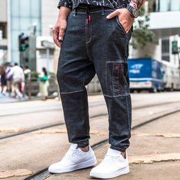 $enCountryForm.capitalKeyWord NZ - New Men High Quality Famous Brand Denim Trousers Punk Style Fashion Multi Pockets Jean Large Big Size 30 32 34 36 38 40 42 44 46