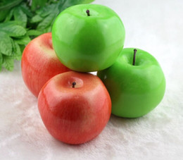 Artificial Plastic Green Apples Australia - Home decor Large size green apple artificial simulation apple fake Fruit Wedding Party House Decoration photography props home