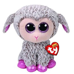 "Discount lamb toys - Ty Beanie Boos 6"" 15cm Dixie the Lamb   Sheep Plush Regular Soft Stuffed Animal Collectible Doll Toy"